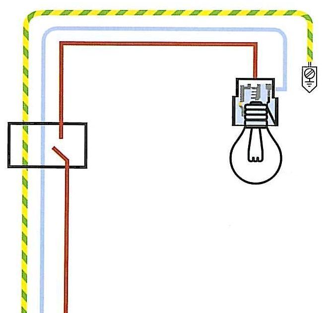 Punto luce interrotto elettronica semplice for Collegamento interruttore luce